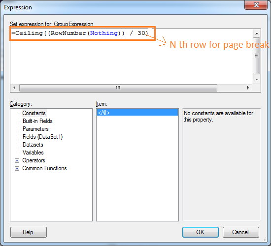 Page Break at Nth row in SSRS Report | SQL Server Rider
