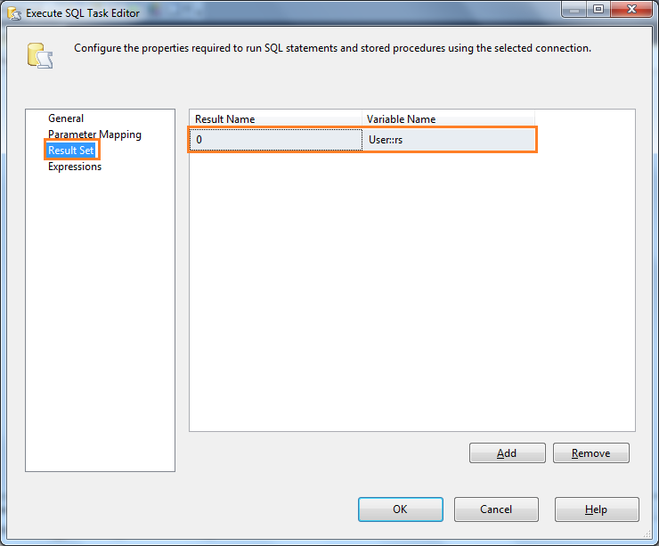 Process resultset using object variable – SSIS – SQL Server