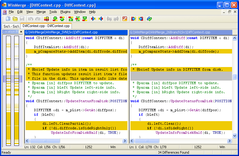 Compare and Merge Code in two different files – File compare tool