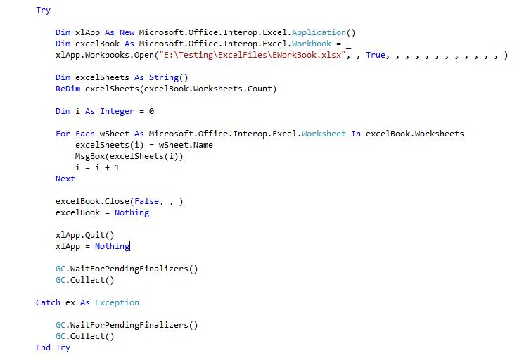 Get WorkSheet Names from Excel WorkBook | SQL Server Rider