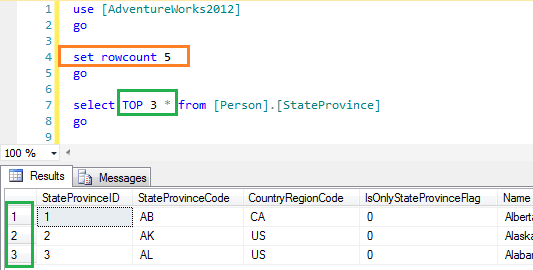 how to use row_number in sql server