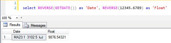 SQL SERVER – REVERSE() a string function @SQLSERVER | SQL Server Rider